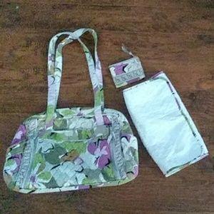 Vera Bradley diaper bag & coin bag